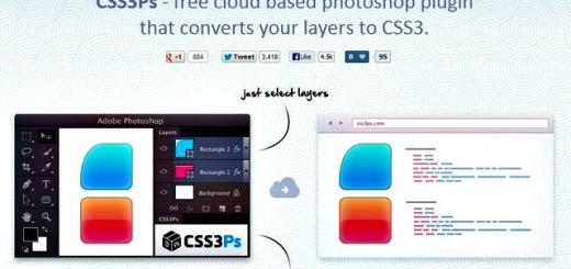 CSS3 PS, práctico plugin gratuito para convertir de Photoshop a CSS3