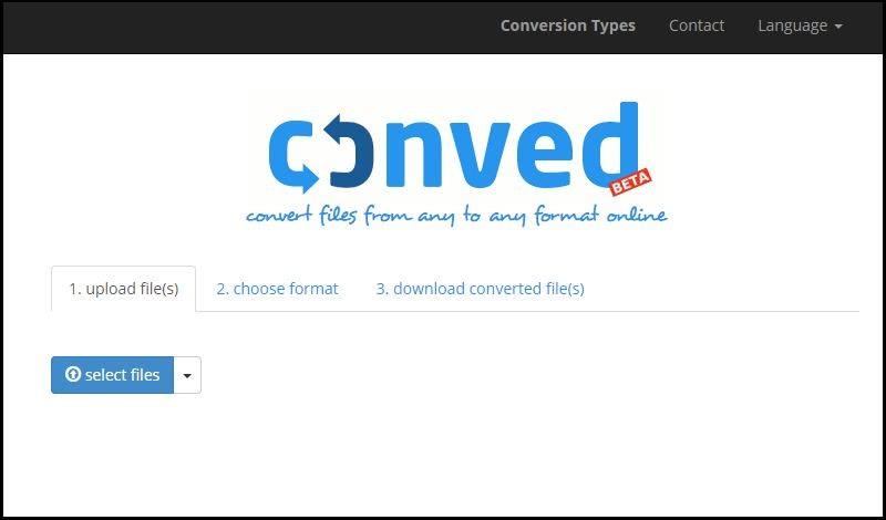 Conved: utilidad web para convertir lotes de archivos a otros formatos