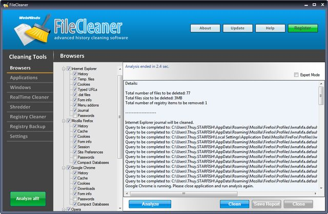 FileCleaner FileCleaner, otra solución para mantener limpio y rápido tu Windows