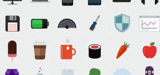 Flatilicious, un pack compuesto por 48 bellos iconos planos gratuitos