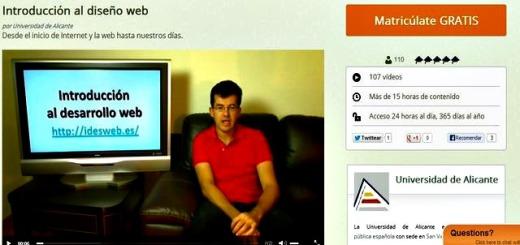 Un completo curso gratuito de introducción al diseño web desde cero
