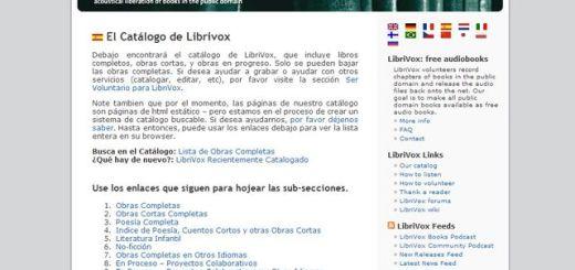 LibriVox, obras de dominio público en formato audiolibro para descarga