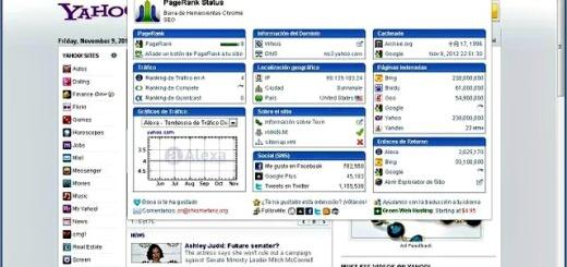 PageRank Status, análisis SEO de cualquier página desde Chrome