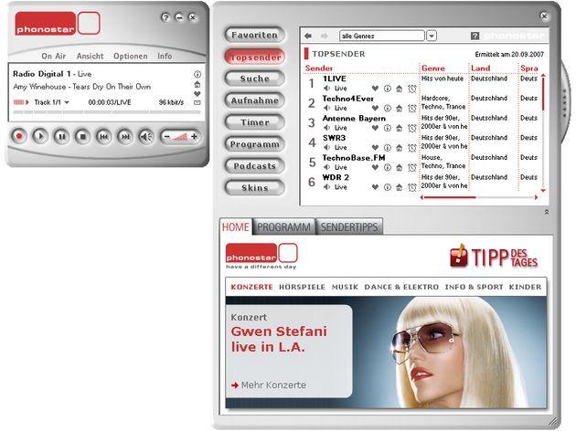Phonostar Player, software con más de 7800 emisoras de radio online