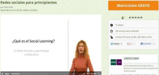Redes sociales para principiantes, un curso gratuito y en español
