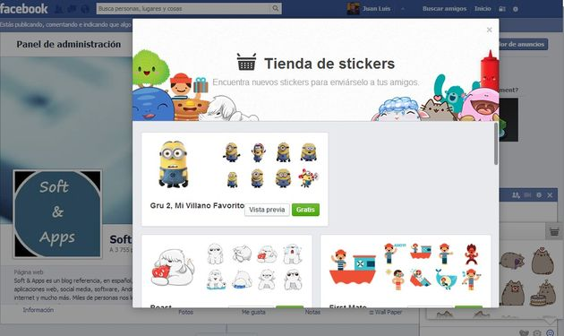 Stickers para Facebook Ya han llegado los stickers al web chat de Facebook