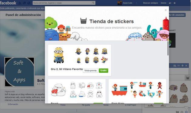 Ya han llegado los stickers al web chat de Facebook