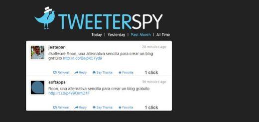 Tweeter Spy, conoce a los usuarios de Twitter que te generan más clics