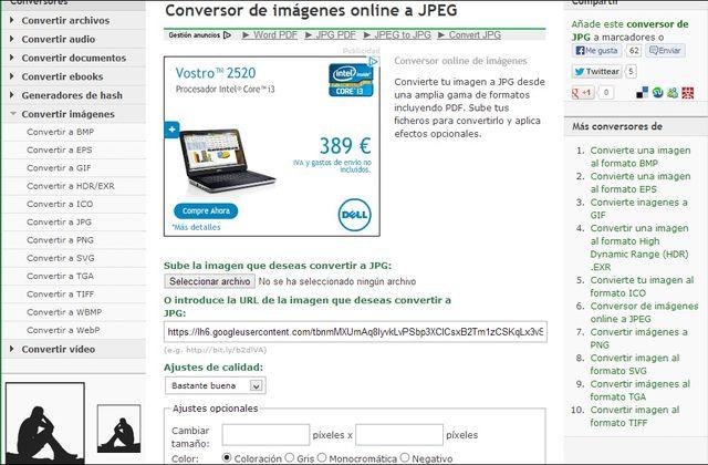 Una práctica utilidad web gratuita para convertir imágenes WebP a JPG