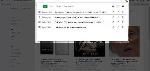 Feedly Checker, extensión Chrome con las notificaciones de Feedly