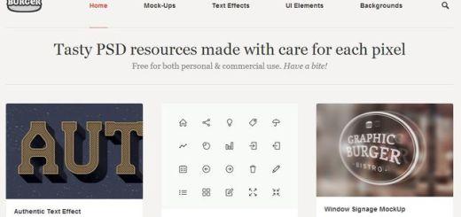 GraphicBurger, colección de gráficos PSD para uso personal o comercial