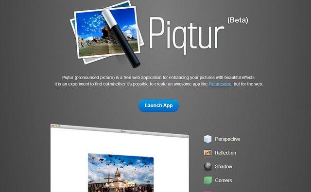 Piqtur, sencillo editor de imágenes online con efectos para tus fotos