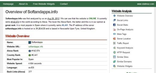 StatMoz, análisis estadístico y SEO de cualquier página o blog
