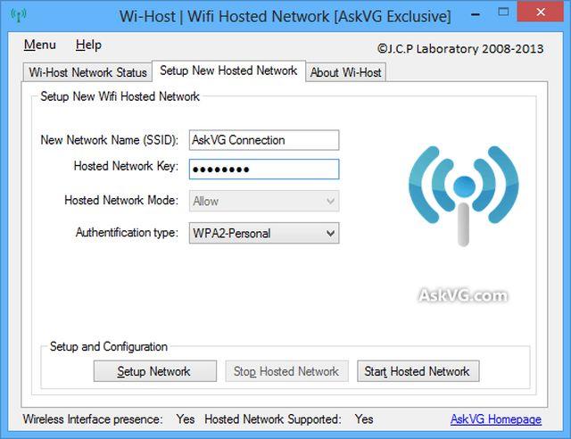 Wi-Host, crea punto de acceso WiFi compartiendo la conexión de tu PC