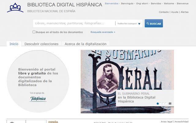 Biblioteca Digital Hispánica con miles de documentos digitalizados