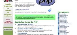 Curso gratuito o tutorial de PHP online y completamente en español
