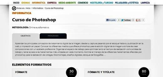 Curso de Photoshop online y gratuito de 30 horas de duración