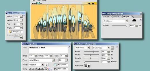 FlaX, software gratis para crear alucinantes efectos de texto en flash