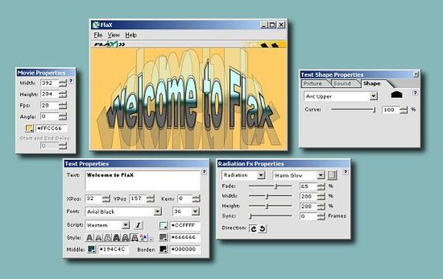 FlaX FlaX, software gratis para crear alucinantes efectos de texto en flash