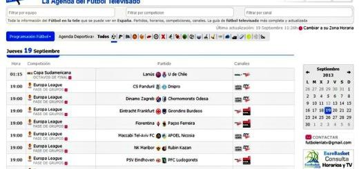 FutbolenlaTV, agenda para conocer los horarios de deportes televisados