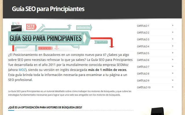 La guía SEO para principiantes de SEOMoz traducida al español