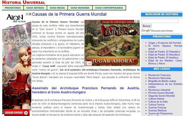 Historia Universal, un sitio que nos resume la historia del mundo