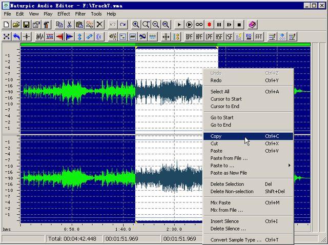 Naturpic: software para editar, reproducir, grabar y convertir audios
