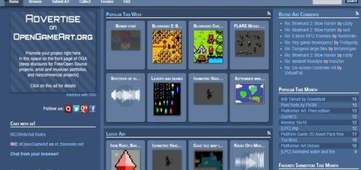 OpenGameArt, todo tipo de recursos libres para desarrollar videojuegos