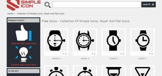 Simple Icon, un sitio con cientos de iconos gratis para descargar