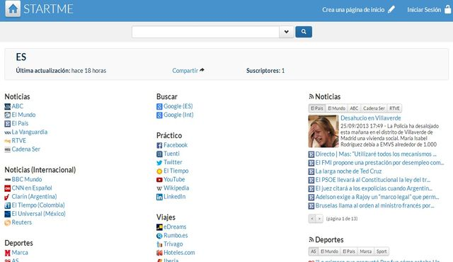 StartMe, una buena alternativa a iGoogle como página de inicio