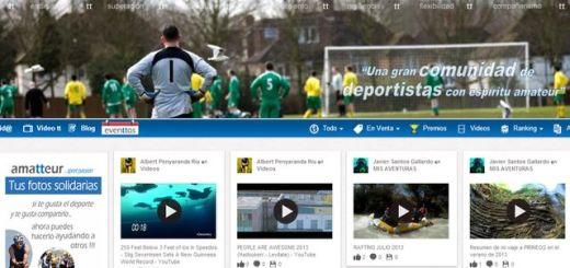 Amatteur, la red social en español para los aficionados al deporte