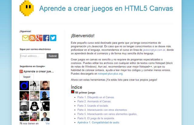 Crear juegos HTML5 Un buen tutorial en español para aprender a crear juegos con HTML5