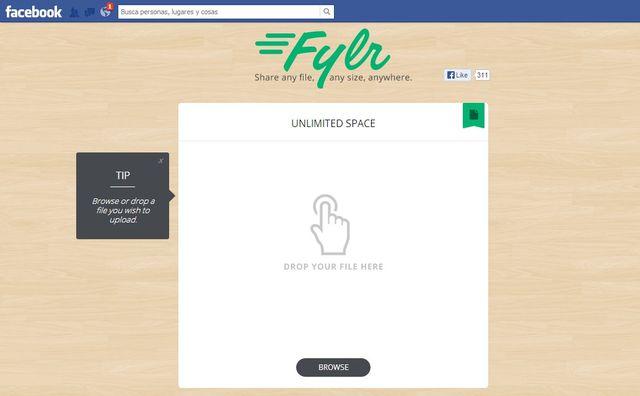 Fylr, compartiendo archivos en Facebook sin ningún límite de tamaño