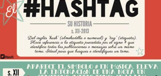 La completa historia del hashtag en una infografía en castellano