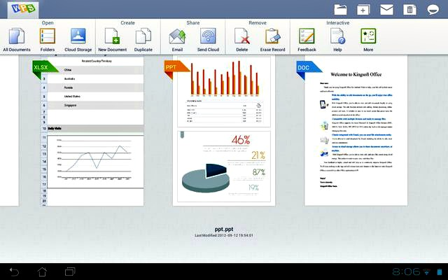 Kingsoft Office, extraordinaria suite ofimática gratuita para Android