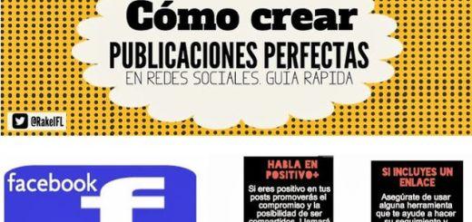 Infografía con trucos para publicar posts perfectos en redes sociales