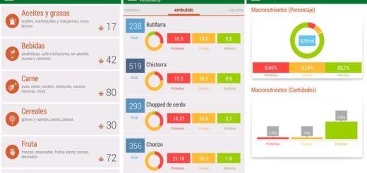 Tabla de calorías, una tabla de calorías de alimentos en tu Android