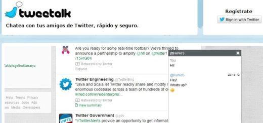 Tweetalk, integra un excelente chat en tu página de Twitter