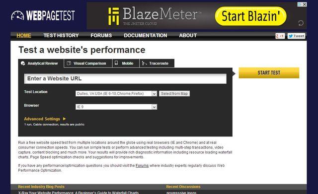 WebPagetest, realiza pruebas de velocidad de carga de tu página