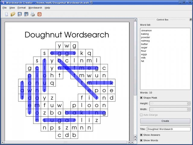 Word Search Creator