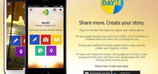 Dayre, app móvil para crear un blog con tus posts sociales