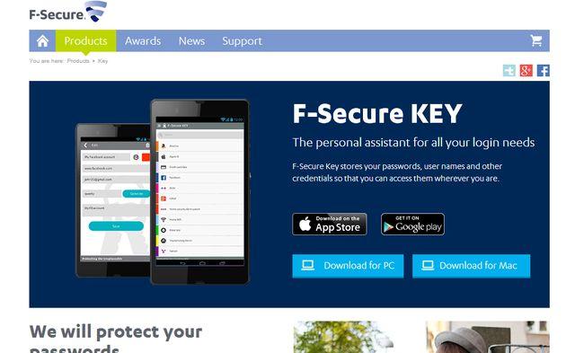 F-Secure Key, un gestor de contraseñas multiplataforma y gratuito