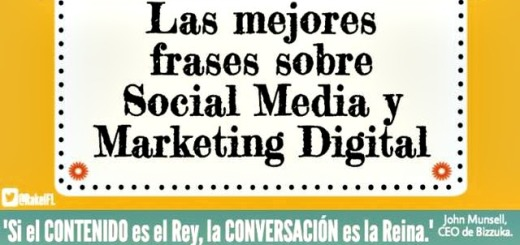 Infografía de las mejores frases sobre social media y marketing digital