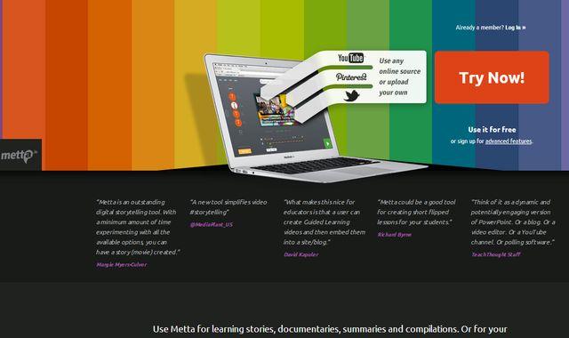 Metta, crea online presentaciones y guárdalas en Google Drive