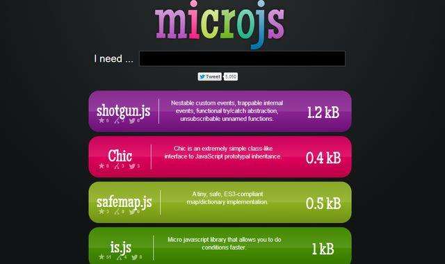 Microjs, colección de pequeñas librerías JavaScript para tus proyectos