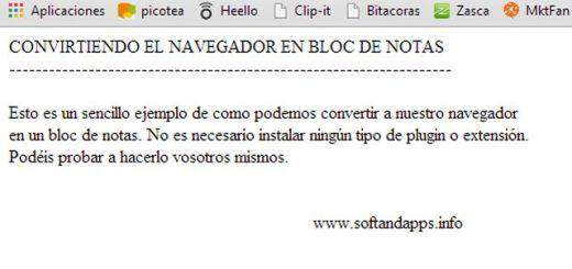 Tip para transformar tu navegador en bloc de notas