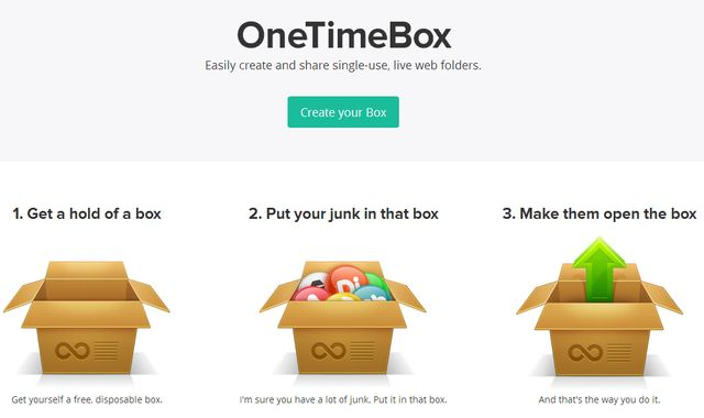 OneTimeBox OneTimeBox, un Dropbox temporal sin necesidad de registro