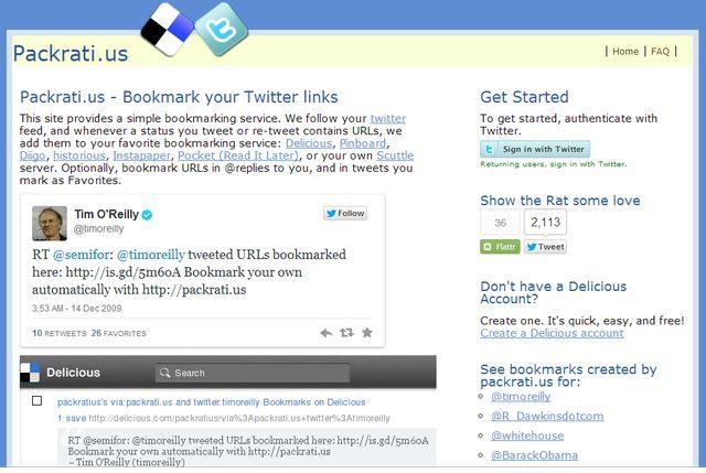 Packrati, guarda los enlaces de tus tweets en Pocket y otros servicios