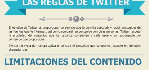 Infografía en español para conocer las reglas de Twitter