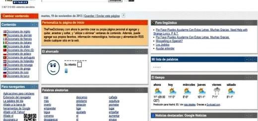 The Free Dictionary, diccionario en varios idiomas y página de inicio